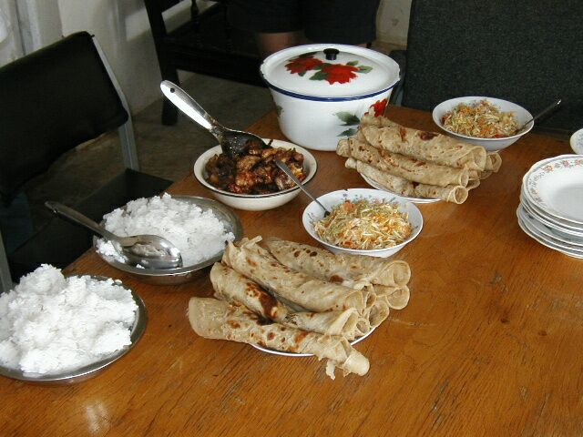 Chapati, rice and other foods of Tanzania